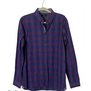 Ted Baker Size 4/Large Blue/Purple Button Shirt